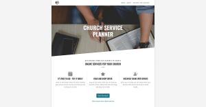 Church Service Planner Homepage