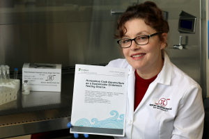 Senior Kepley Scientist and lead author, Dr. Rachel Tinker-Kulberg, with recent publication.