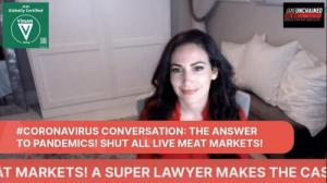 Carissa Kranz, Super Lawyer CEO of BeVeg Vegan Certification & Jane Velez-Mitchell, award-winning journalist discuss coronavirus crisis solutions on JaneUnchained News Network