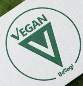 Global vegan trademark for products and services that do not use or exploit animals. Represented on every continent except Antarctica. BeVeg is a Law-firm-issued vegan symbol.
