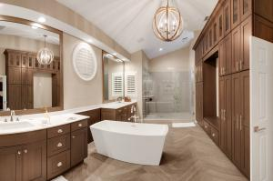 Custom millwork ins spa master bathroom