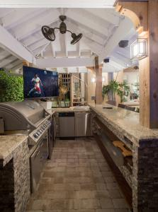 custom millwork in outdoor kitchen