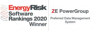ZE Ranked First in Preferred Data Management System from the Energy Risk Software Ranking