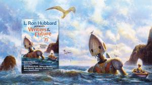 L. Ron Hubbard Presents Writers & Illustrators of the Future Volume 35 with cover art painted by Bob Eggleton