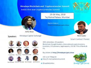 Himalaya Capital Exchange to host Nick Szabo in Mumbai 25-26 May 2018