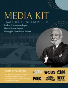 Tim Williams Media Kit Cover
