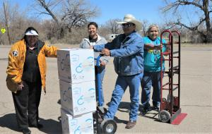 Delivering needed goods donated by Latter-day Saints  Charities & Churches of Scientology Disaster Response to Native Americans in northeast Utah.