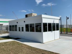 Prefab Modular Security Building Installed Irving Tissue Company