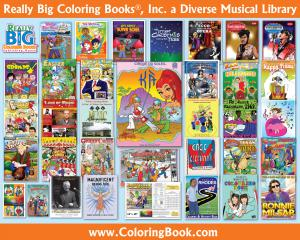 Music Genre's Books and Merchandise at Really Big Coloring Books