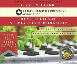 Register today to attend Tyler's Regional Hemp Supply Chain Workshop