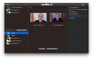 ascribe.ai is available as a standalone app or Premiere Pro panel