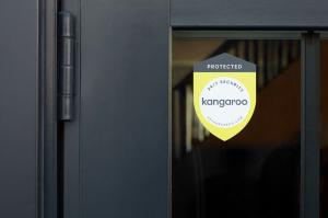 24/7 Security by Kangaroo Door Sticker