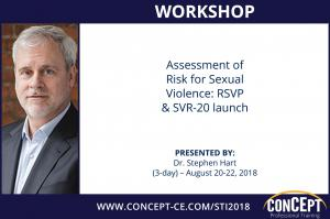 Assessment of Risk for Sexual Violence: RSVP & SVR-20 launch