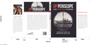 A picture of our dust cover from our new book UP PERISCOPE