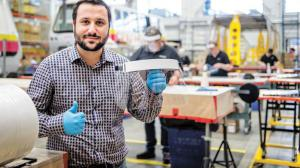BOMBARDIER celebrates face guard production using SPEEDWRAP Hook & Loop Fasteners