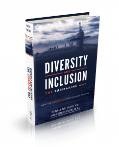The cover of our bestselling book Diversity and Inclusion The Submarine Way