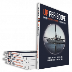 A picture of the cover of our latest book UP PERISCOPE