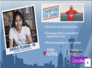 Akeila Tejwani donated $1,700 to kids charities in San Antonio in 2020