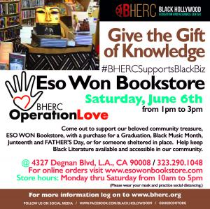 Support ESO WON Bookstore with BHERC Operation Love June 6, 2020