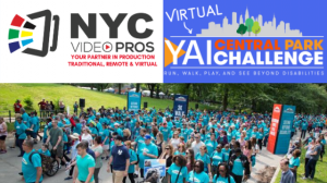 YAI Central Park Challenge image and logo with NYC Video Pros logo