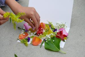 Hapazome Preparation with flowers