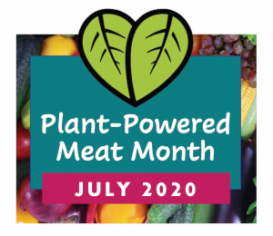 Logo for Plant-Powered Meat Month