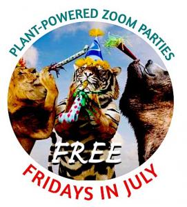 FREE Zoom parties every Friday night in July for Plant-Powered Meat Month