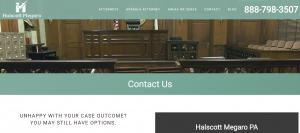 Website of Patrick Megaro, Defense Lawyer