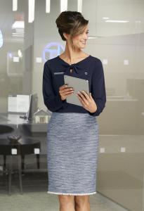 Chase Consumer Banking Apparel Blouse and Skirt By Lands' End Inc.
