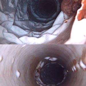 Defective CIPP liners in pressurized water mains.