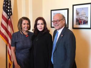 Rep. Steve Cohen discussing horse protection issues with House Speaker Nancy Pelosi and Priscilla Presley in January of 2019 | Photo Credit: Marty Irby