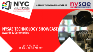 NYC Video Pros at NYSAE Technology Showcase as a Virtual Event Tech Partner