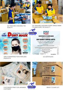 The Dony Company is the best antibacterial face mask supplier (washable, reusable) for COVID from Vietnam. We are a wholesale face masks exporter from Vietnam and serve clients all over the world.