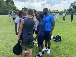 Former New Orleans Saints Linebacker Junior Galette Visits Local High School Football Teams, Motivating Players 2