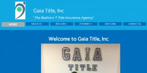Website of Gaia Title, William B. Blanchard, General Counsel
