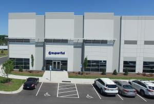 """Exterior picture of the new Superfici America headquarters for North America located in Concord, NC"""