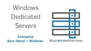 Microsoft Partner Rad Web Hosting Offers Windows Dedicated Servers in HIPAA-Compliant Data Center in Phoenix, AZ