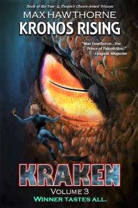 Kronos Rising: Kraken (vol. 3) cover art, by Max Hawthorne