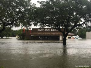 Three Brothers Bakery Surrounded by 4.5 Feet of Water During Hurricane Harvey Photo Credit:  Katrina Kidder