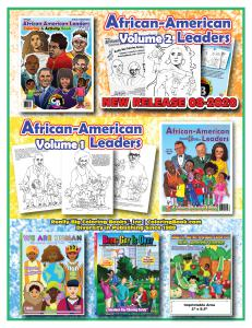 African American Leaders Coloring Books.