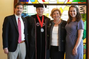 GWU President Dr. William Downs and Family