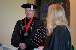 Dr. William Downs Installed at 13th President of Gardner-Webb University by Board Chair Jennifer Marion Mills