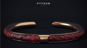 red python and pink gold