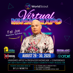 Fat Joe Scheduled to Speak at WorldScout Virtual Music Expo