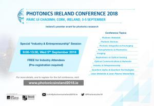 Industry and Entrepreneurship Session at Photonics Ireland