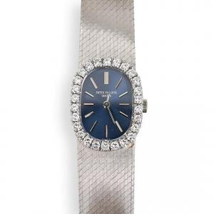 Vintage Patek Philippe 18K & Diamond Ellipse Lady Watch