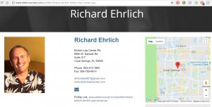 Richard Ehrlich Estate Planning Attorney in Florida Attorney Profile at Eldercounsel