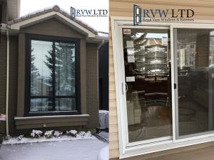 Black Vinyl Windows and Sliding Patio Doors
