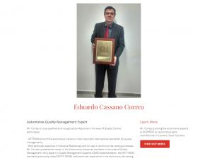 Professional Profile of Automotive Quality Expert Eduardo Cassano Correa