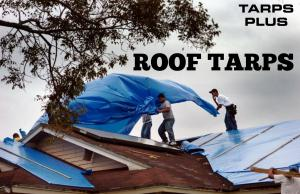 Hurricane roof tarps